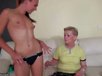Skinny lesbo wrinkled grannies fucking with amazing sweet beauties