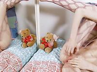 Amazing cute teen in bodystockings masturbation