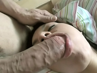 spicy lara is playing with an old dick
