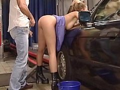 Car wash service in Germany. Anja Laval