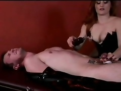 Dominatrix Jemini Terrorizes Tied Up Dude