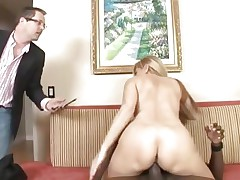 Nicole Moore makes her horny cuckold watch