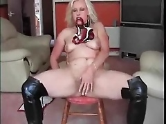 Leather boots and latex pants solo